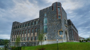The Hancock center--complete with battlements--acts as the prototype for the battle-ready renovations hitting Marist.